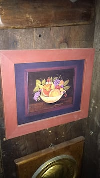brown wooden framed painting of flowers Toronto, M6R 1N2