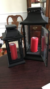 Lantern candle holders. Candles included Chester, 23836