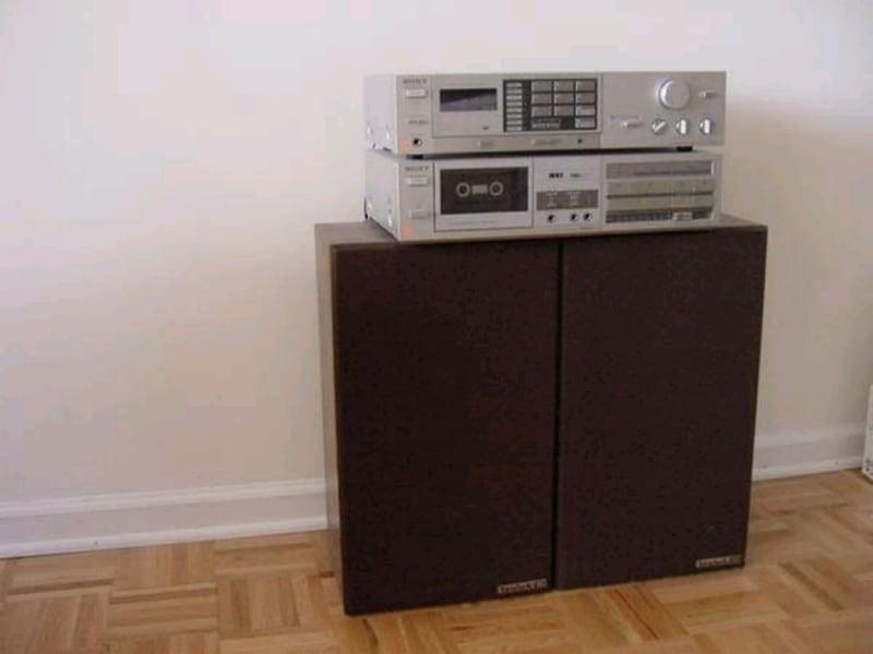 Sony FM-AM Radio & Cassette Deck - Stereo Speakers 4f225ac9-c13e-433a-ad25-c1304a60f519