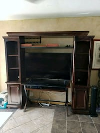brown wooden TV hutch and flat screen TV Wailuku, 96793