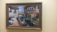 Oil canvas painting signed by W. James with a beautiful custom frame. Toronto, M9V
