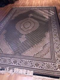 Black  and white floral area rug Vaughan, L4L 7C3