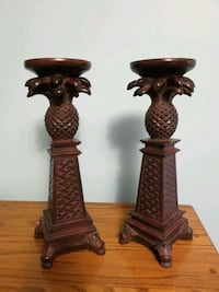 Candleholders beautiful detailed carved pineapple design    Cavan, L0A 1C0