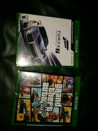 New Unopened gta5 and opened forza 7 for xbox one 2275 mi