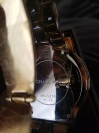 Michael Kors chocolate large face watch null
