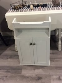 white wooden 2-door cabinet Burlington