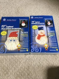 Santa and snowman lighted decorations  Methuen, 01844