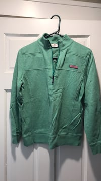 Green zip-up sweatshirt