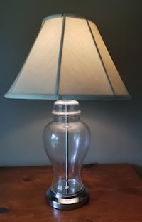 Clear Glass Table Lamp With Lampshade Commack