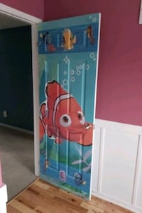 Beautifully painted children's bedroom door.