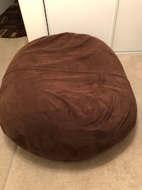 Brown suede Love Sac.  Large 1 person.