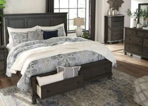 !Special Offer! Devensted Gray Storage Platform Bedroom Set! 39$ Down