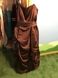 Chocolate Strapless Gown Dover, 19901