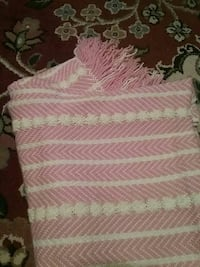Crocheted pink baby blanket great condition