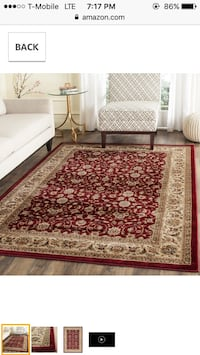 Red brown floral area rug Fresno, 93720