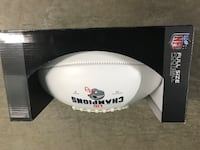 New England Patriots Super Bowl LIII Champions Full size football Boston, 02128
