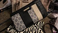 Nine West women's black,white and grey wallet