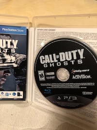 Call of Duty Ghosts PS3 game case Pittsburg, 94565