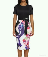 women's black and pink long-sleeved dress Montreal, H3G