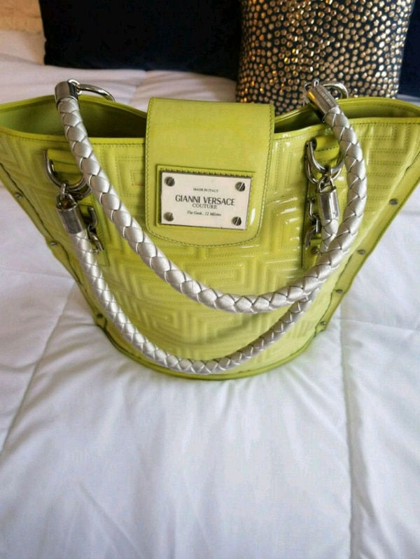 372aca9fc7f1 Used Genuine Versace Purse in the loveliest green for sale in Frisco - letgo