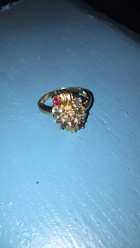 gold and red gemstone ring Pelzer, 29669