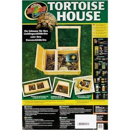 Reptile, tortoises, or small mammal sanctuary 36in L X 24in W X 12in H Wood enclosure has wire safety cover and private sleeping area. Easy to asseble, perfect for tortoises and box turtles. 1