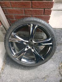 PAIR OF TYRYES WITH CHROME RIMS FOR SALE AS IS.... Pickering, L1V 6Z4
