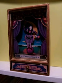 Vintage Dancing Clown Circus Musical Jewelry Box Charlotte, 28277