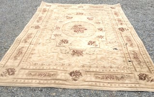 Rug – large and durable but needs spot cleaned