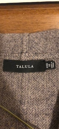 A Talula wool three quarter jacket