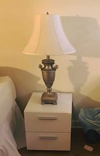 Classic silver and white bedroom lamp