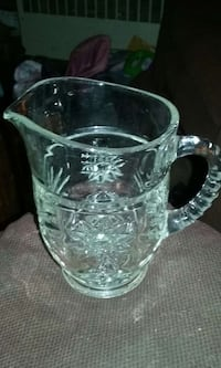 clear cut glass pitcher Shamokin, 17872
