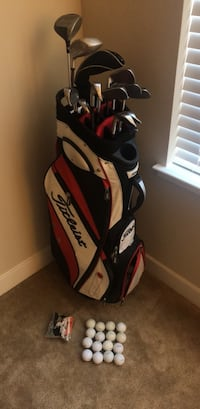 Titleist Golf Bag with Titleist Right-Handed Irons (including Titleist Putter and Wedges) and 3 Drivers Mc Lean, 22102