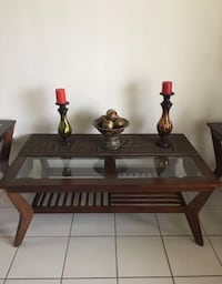 Living room 3 piece table set- Brown wooden  Miami Gardens, 33169