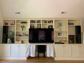 Phase technology 5.1 surround sound system with Sherwood receiver.