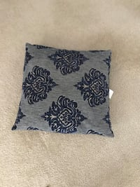black and gray floral throw pillow Reston, 20194