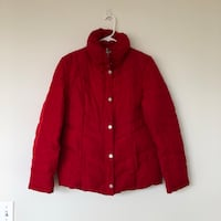 Kenneth Cole Reaction Puffer Jacket Coat Red Down Filled Sz Medium Washington, 20003