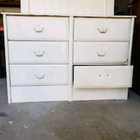 white wooden 6-drawer dresser with bed frame Houston, 77079