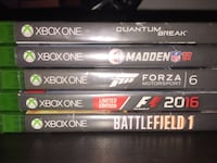 Assorted xbox one game cases San Jose, 95131