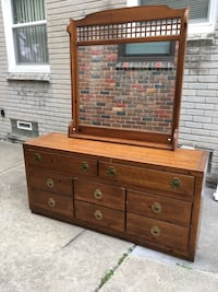 brown wooden dresser with mirror Lincoln Park, 48146