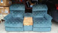 two gray fabric sofa chairs Leander, 78641