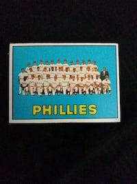 1967 TOPPS PHILLIES TEAM BASEBALL CARD Upper Darby, 19026