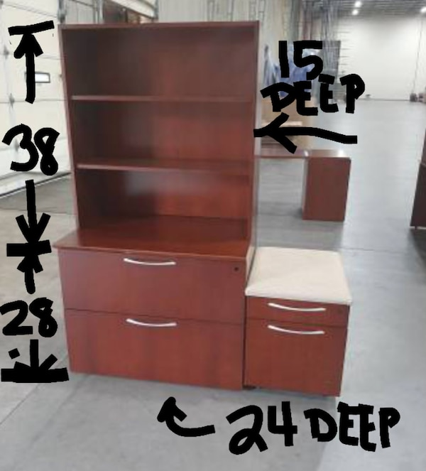 2-DRAWER LATERAL FILE CABINET (($200 w/ Bookcase / $160 without)) 702f7b37-1ad3-4207-a6e2-f0406a5ea9f6