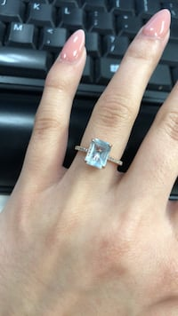 Aquamarine Ring with Diamonds Pasadena