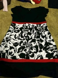 black and white floral sleeveless dress Weyers Cave, 24486