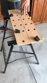 brown and black work bench