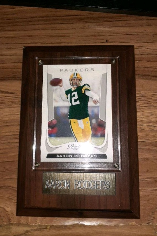 Aaron Rodgers player card plaque