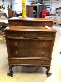 Antique Wood Chest of Drawers Columbia