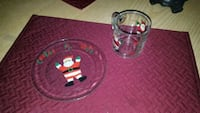 Cookies and milk for Santa glass plate and cup Virginia Beach, 23464