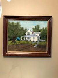 Painting ~ June Johnson canvas painting in wood frame
